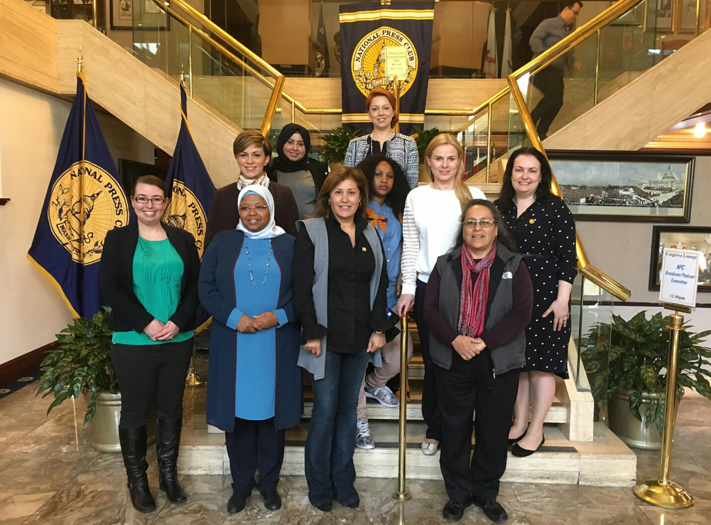 WhiteHat Magazine and Diplomatic Courier host the Women's Democracy Network fellows.