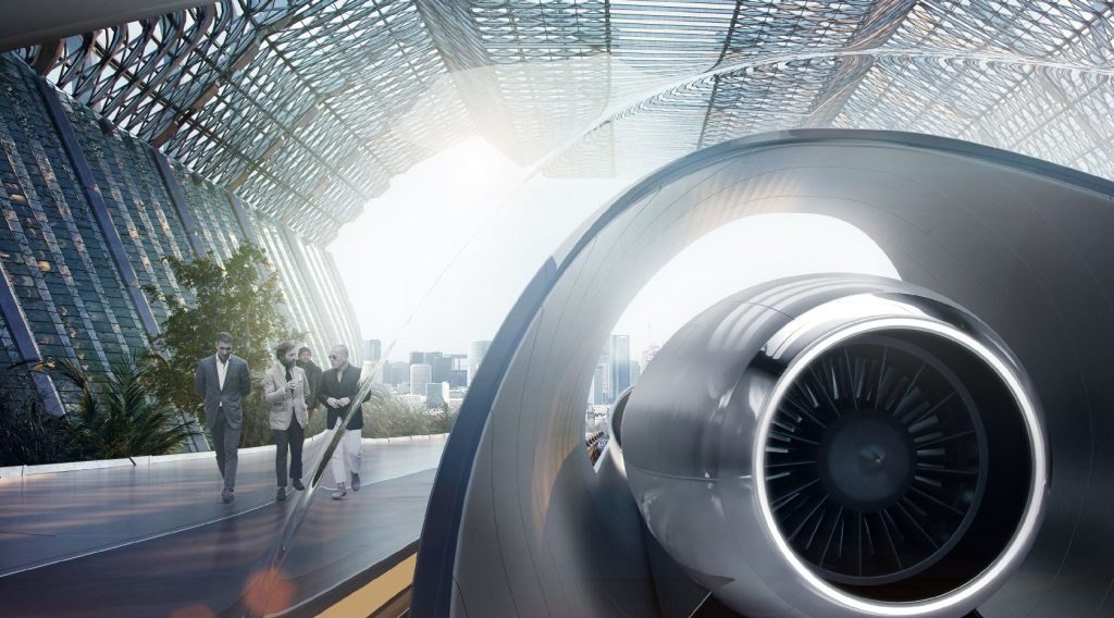 Concept by Hyperloop Transportation Technologies
